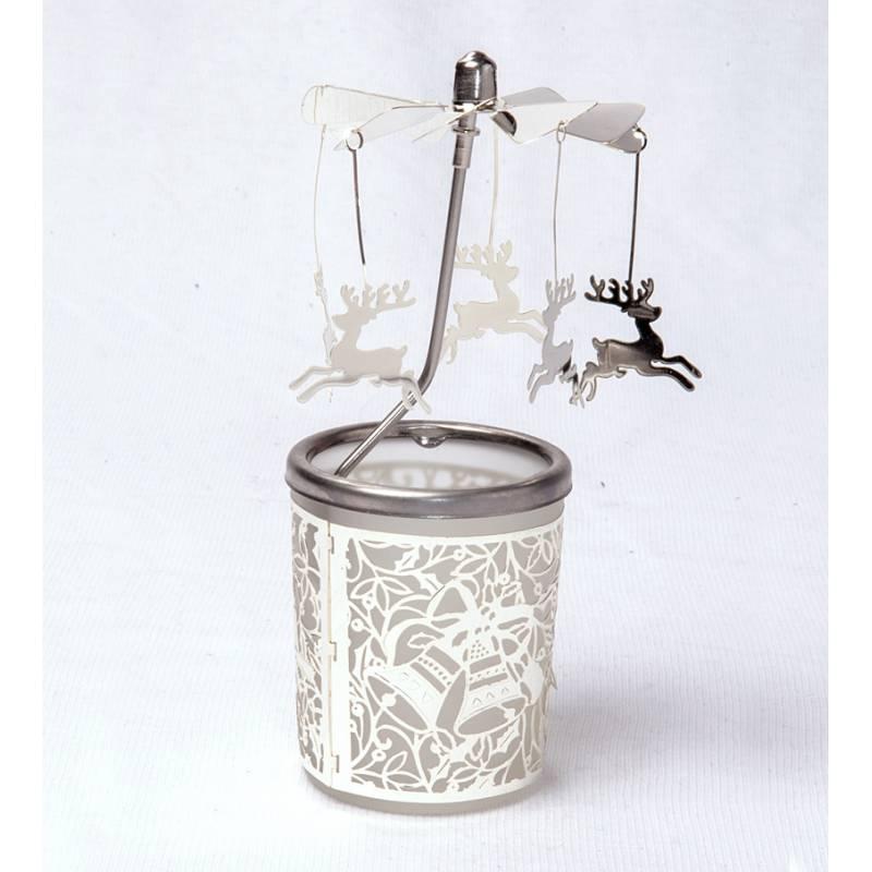 Carousel Glas Reindeer, Silver