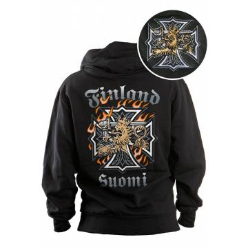 DC Lion and Maltese cross Hooded jacket