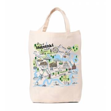 Natural Helsinki map Bag