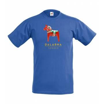 Royal Blue Dalahäst Kids T-shirt