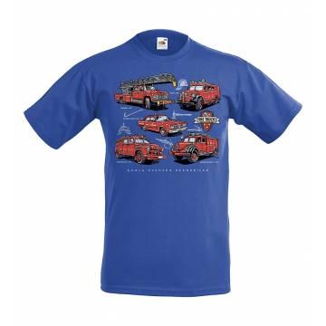 Royal Blue Gamla Svenska Brandbilar Kid`s T-Shirt