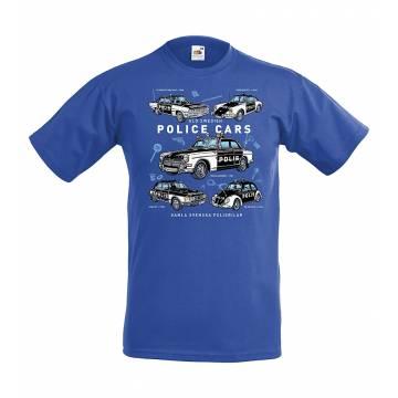 Royal sininen DC Gamla Svenska Polisbilar Lasten T-paita