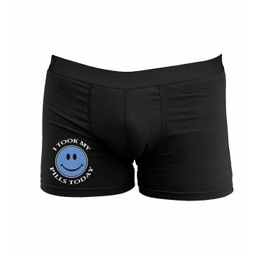 Black I took my pills today Boxer shorts