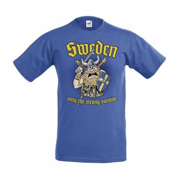 Royal sininen DC Sweden, Only the strong...Lasten T-paita