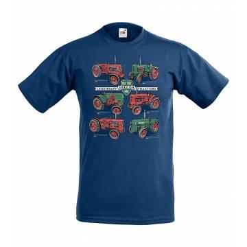 Navy Blue Swedish Tractors Kids T-shirt