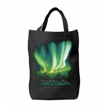 Northern Lights and reindeer Bag