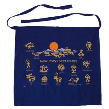 Navy Blue Magic Symbols Apron