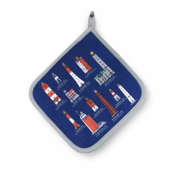 Deep Navy Finnish lighthouses Pot holder