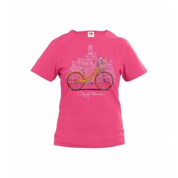 Helsinki, polkupyörä Slim T-paita