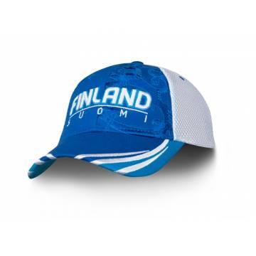 Sini/Valkoinen Finland+Leijona PUFF lippis