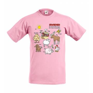 Pink My first Swedish lesson T-shirt