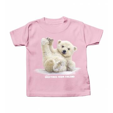 Pinkki JHK Sliding Polar Bear Cub Baby T-shirt