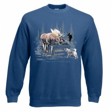 Navy Blue DC Finnish moose hunting Sweatshirt