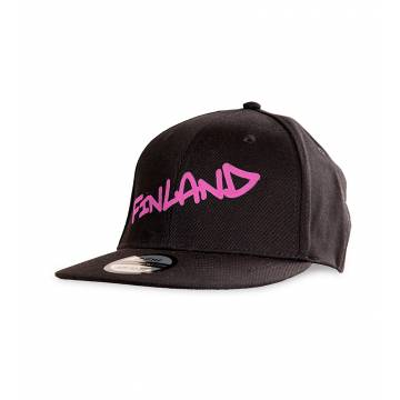 Black Finland Tag Kid´s Cap RED