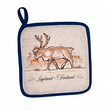 Linen Lapland delicacies Pot holder