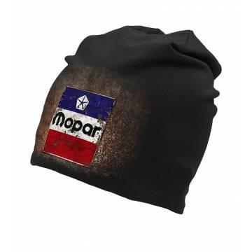 Black DC Mopar Rusty Logo Beanie