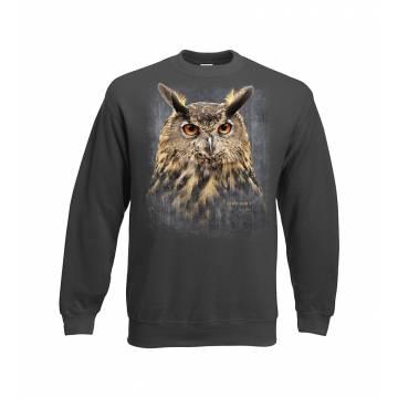 Charcoal DC Eagle-owl, Bubo bubo Sweatshirt