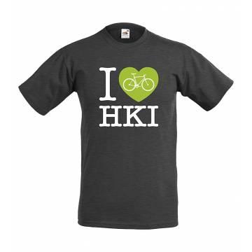 I love Hki, polkupyörä T-paita