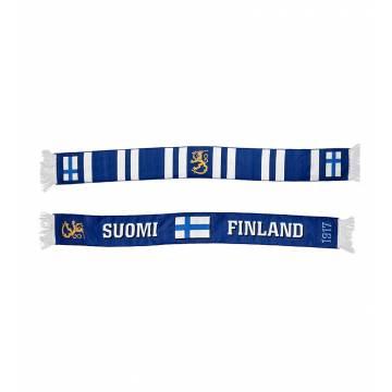 Finland+Lippu kudottu Fanihuivi