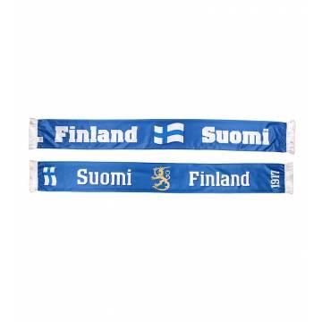 Sini/Valkoinen Finland+Lippu+Suomi Kaulaliina