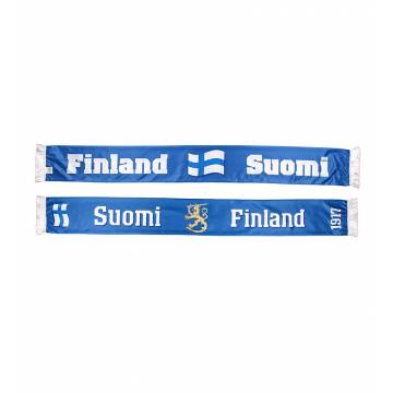 Royal Blue/White Suomi Finland scarf
