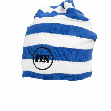 Royal Blue/White FIN Stripe beanie