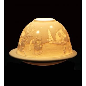 All colors Moomins and winter tealight 474