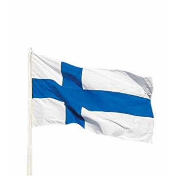 Royal Blue/White Finnish flag 19 x 32 cm