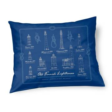 Navy Blue DC Old Finnish lighthouses Pillow case