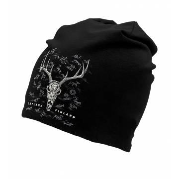 Black DC Reindeer skull Tricot beanie