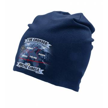 Navy Blue DC I´ve crossed the Arctic CircleTricot beanie