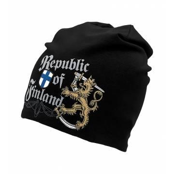 Musta DC Republic of Finland Trikoopipo