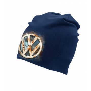 Navy Blue DC VW Rusty Logo Beanie