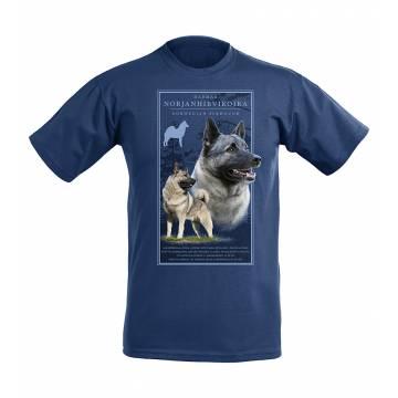 DC Harmaa norjanhirvikoira T-paita