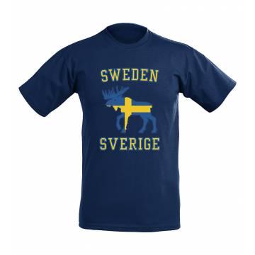 Flag and moose Sweden T-shirt