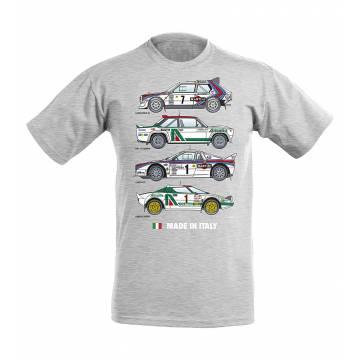 Melerattu Harmaa DC Made in Italy lasten T-paita