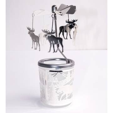 All colors Carousel Glas Elk 2, Silver