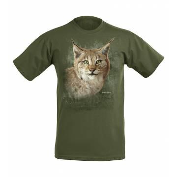 Metsän vihreä DC Ilveksenpää Sweden T-paita
