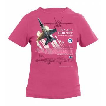 Fuchsia F/A-18 Hornet Kids T-shirt
