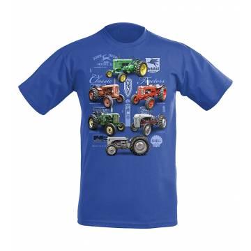 Royal Blue DC New Classic Tractors Kids T-shirt
