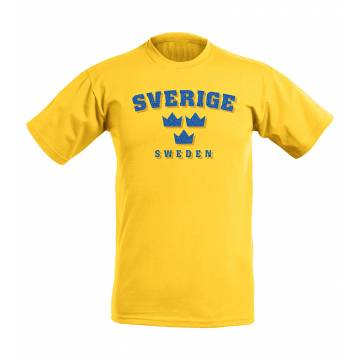 Yellow Tre Kronor Glitter T-shirt