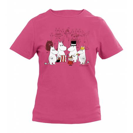 Fuchsia The Moominvalley residents Kids T-shirt