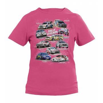 Rally legends lasten t-paita