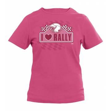 Fuksia I Love Rally Tyttöpaita