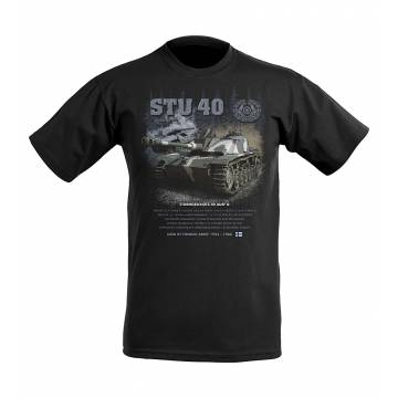 Black STU 40 Kids T-shirt