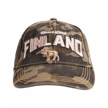 Camouflage Finland Moose, Washed Twill Cap