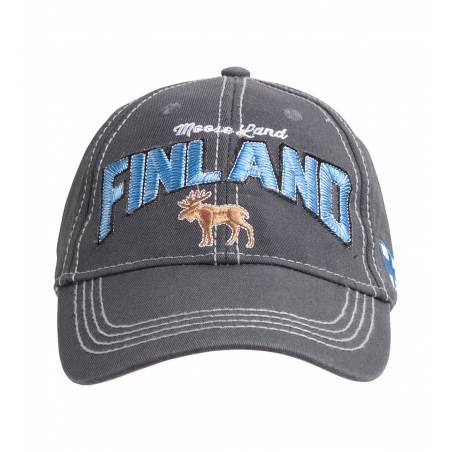 Harmaa Finland Moose, Washed Twill Cap