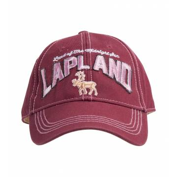 Burgundy Lapland Reindeer, Washed Twill Cap