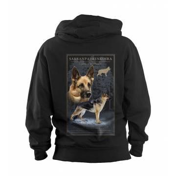 Black DC German Shephard Hooded Sweat Jacket