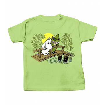Moomin and Snufkin on the Bridge Baby T-shirt